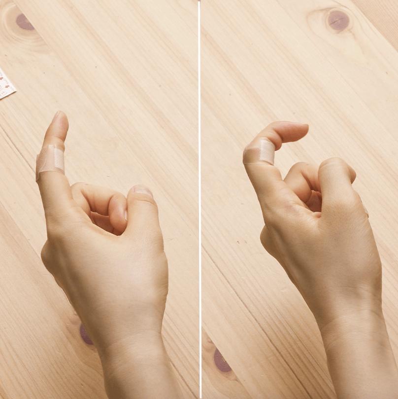 エイド 方 バンド 指先 巻き